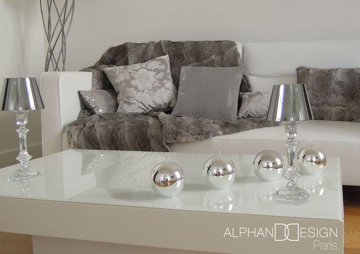 Salon contemporain gris