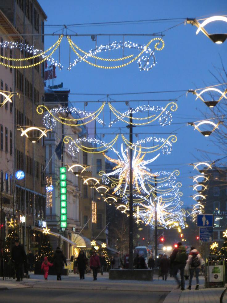 Yliopistonkatu street, Turku, Finland by Pirjo Ketola
