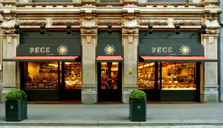 "Peck gourmet food in Milan. ""Il Tempio della Gastronomia"" means The Temple of Gastronomy.  Lots of delicious eats!  #monogramsvacation"