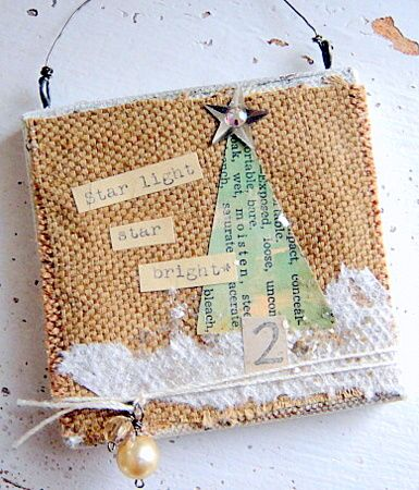Becky Shander Holiday Mixed Media Art