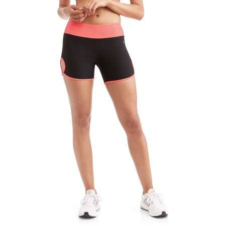 N.Y.L. Sport Women's Performance Bike Short with Contrast Trim, Size: Small, Pink