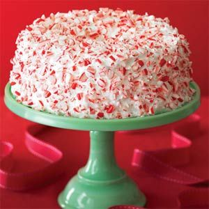 Candy Cane Cake For a simple yet stunning holiday dessert, top angel