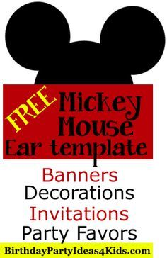 Free Mickey Mouse Ears Template Use To Make Mickey And