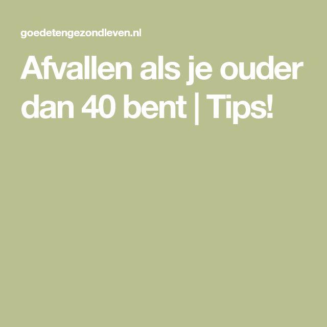 Afvallen als je ouder dan 40 bent | Tips!