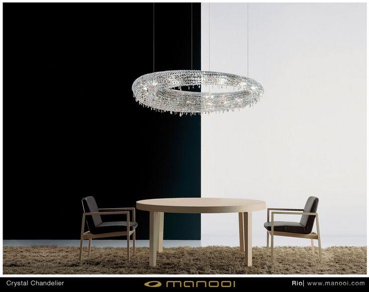 Rio crystal chandelier #Manooi #Chandelier #CrystalChandelier #Design #Lighting #Rio