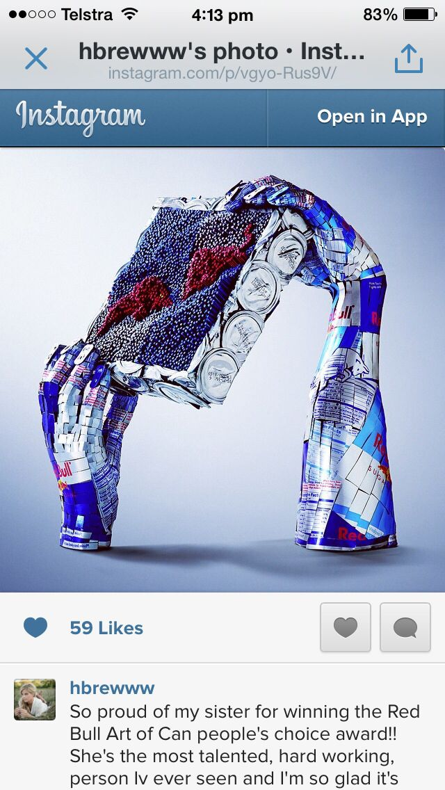 Winning artwork at Red Bull Art of Can