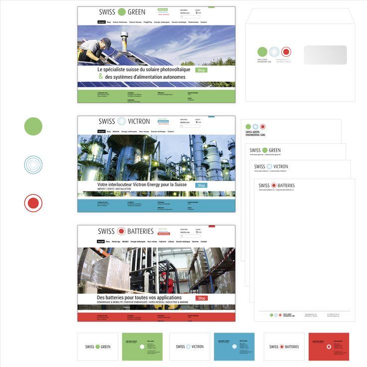 Identité visuelle & sites web Swiss-Green.