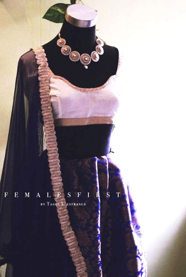 [All Rights Reserved]   Trisha | तृषा  When you're in the mood for new clothes:  Why not add this luxury imperial set to your closet?  Pair this royal blue silk cotton brocade lehenga w a blouse of your choice & start off the trend.  [Product & Photography Rights Owned]