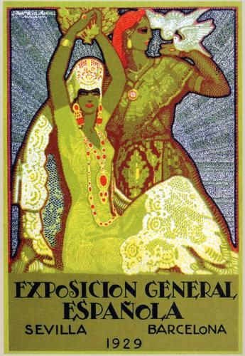 Spain. Poster of Sevilla and Barcelona Exhibition, 1929  // Juan Miguel Sánchez