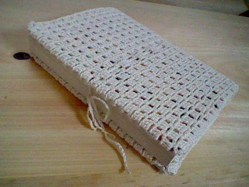 かぎ針編みのブックカバーの作り方