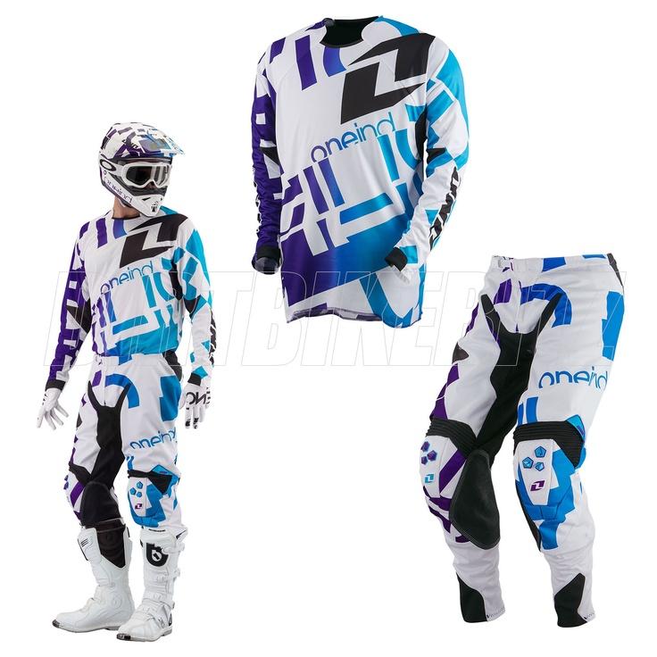 2013 Spring One Industries Defcon Motocross Kit Combo - Txt1 White - 2013 One Industries Motocross Kit Combos - Adult - 2013