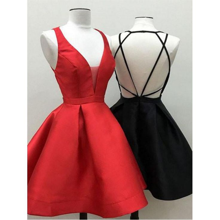 Outlet Short Homecoming Prom Dress Fetching Black Prom Dresses With V-Neck Criss-Cross Criss Cross Dresses