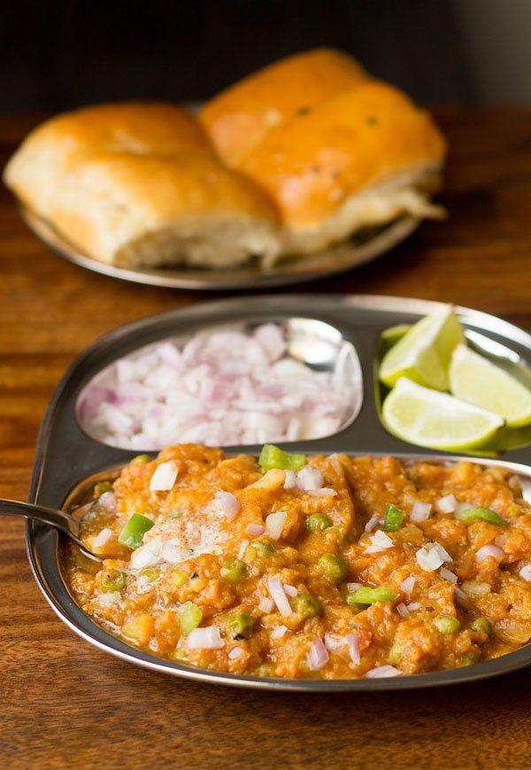Pav Bhaji Recipe Punjabi Style - with loads of butter, herbs, veggies and pav…