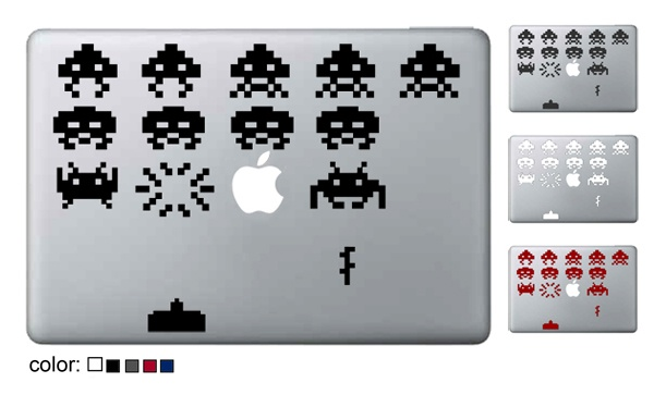 space invader decal