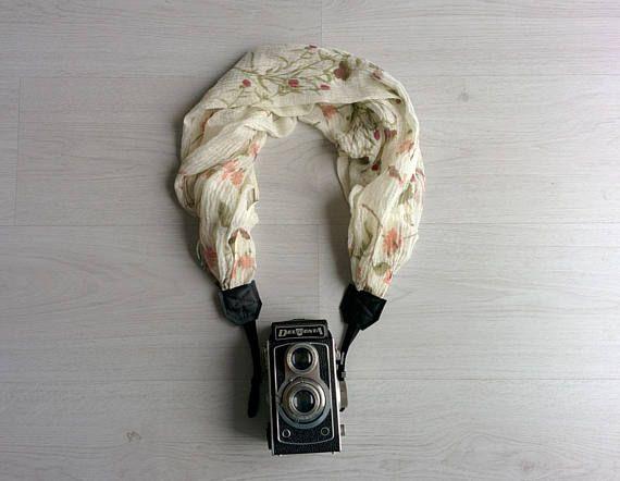 Camera strap scarf Camera scarf strap Scarf camera strap DSRL camera strap Photograph prop Floral camera strap Camera accessories SALE !!