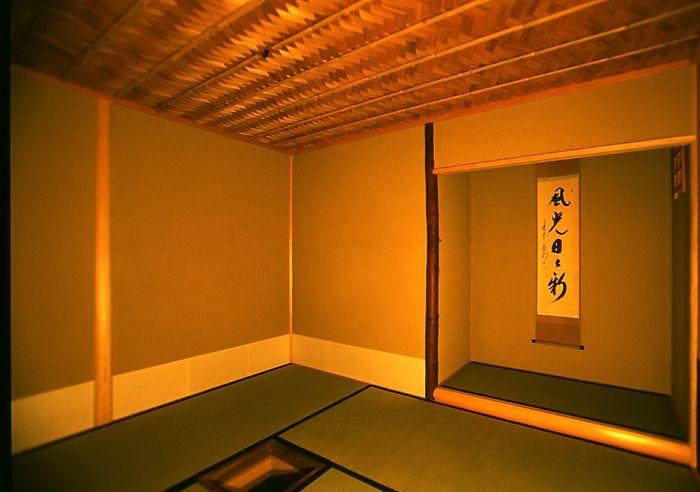 Tokonoma  tea ceremony room. Kyoto,Japan 茶室内部 床の間