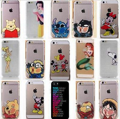 Details about New Fashion cartoon Protector back case cover for iphone 4S 5 5S 5C 6 & 6 Plus