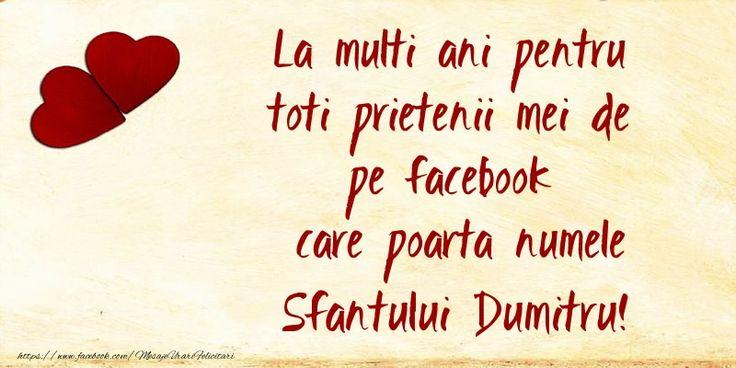 La multi ani pentru toti prietenii mei de pe facebook care poarta numele Sfantului Dumitru!