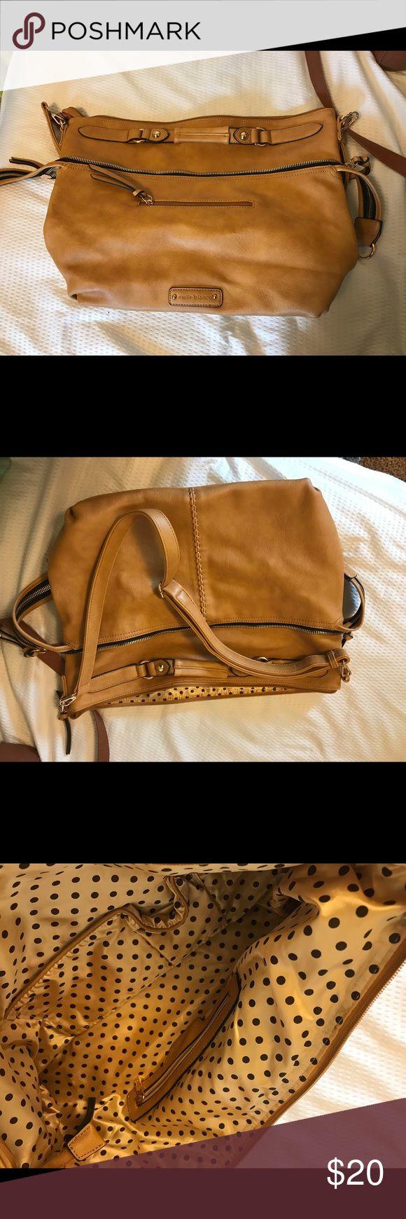 Large vegan melie bianco shoulder bag Brand new shoulder bag, no rips or stains vegan leather, used a MacBook Air so you can get a size comparison Melie Bianco Bags Shoulder Bags