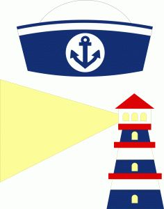 sailor beret & lighthouse------------------------I think I'm in love with this shape from the Silhouette Online Store!