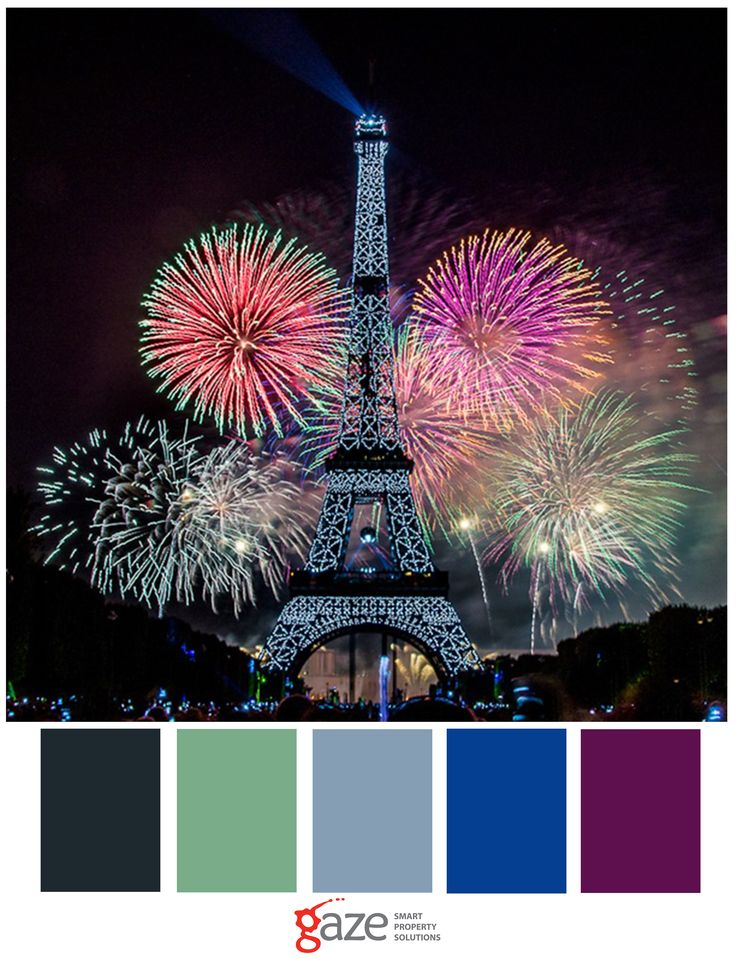 Bastille Day is the French National Day celebrated on the 14th of July each year. Celebrations include evenings of dancing and a fireworks display at the Eiffel Tower.