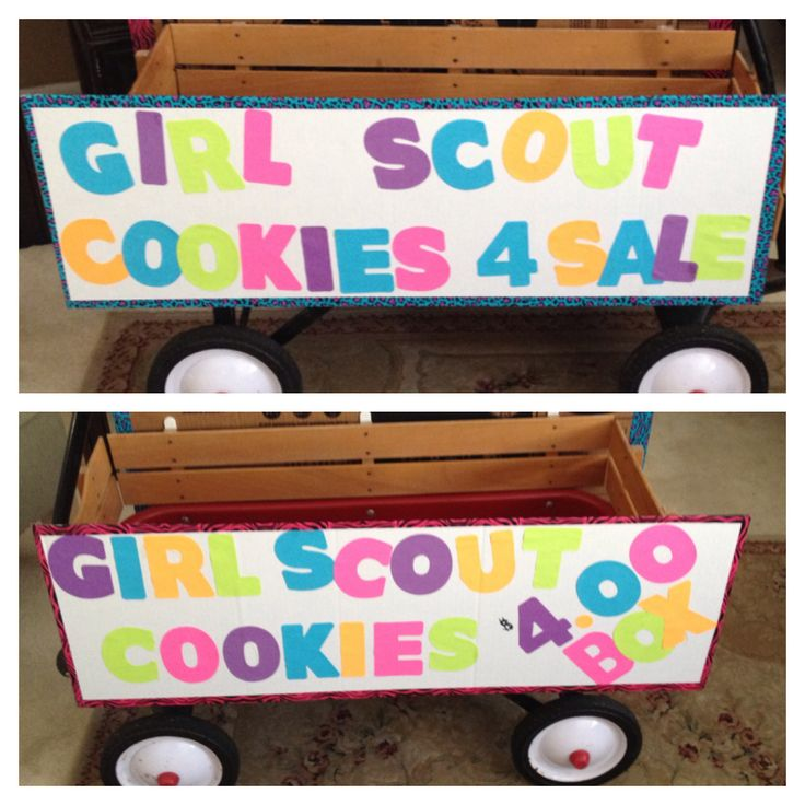 Are you walking around your neighborhood selling cookies? Here is a perfect wagon for your Girl Scout cookie adventure. #onemorebox