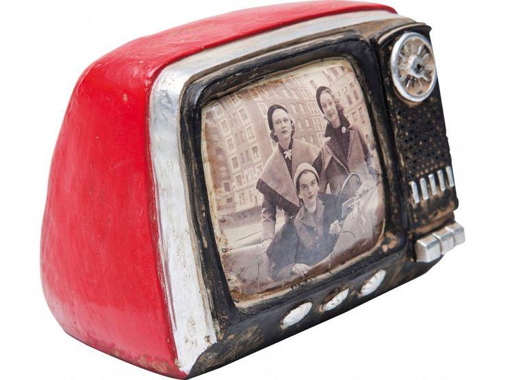 Skarbonka TV Seventies czerwona — Skarbonki Kare Design — sfmeble.pl