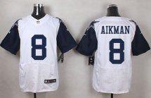 Dallas Cowboys #8 Troy Aikman White NFL Elite Rush
