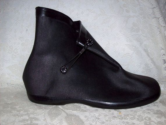 Vintage Ladies Rubber Galoshes Overshoes Size 8 Only 10