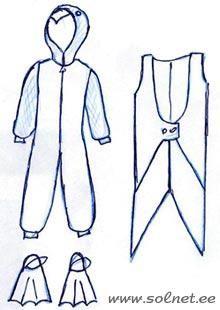 Выкройка новогоднего костюма пингвин