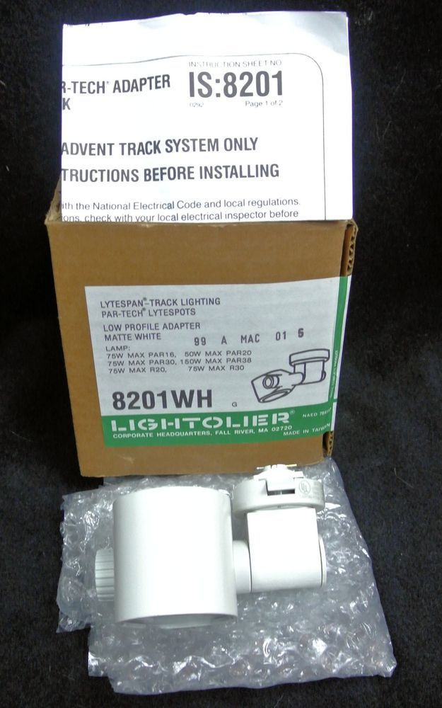 Low Profile Track Lighting Lightolier Lytespan 8201wh Track Lighting Head Partech Low Profile Adapter New Track Lighting Track Lighting Heads Low Profile