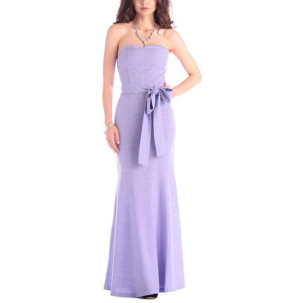 Dioni Light Purple Strapless Linen-Blend Maxi Dress ($63) ❤ liked on Polyvore featuring dresses, purple strapless dress, light purple maxi dress, strapless long dresses, long maxi dresses and strapless sweetheart dress