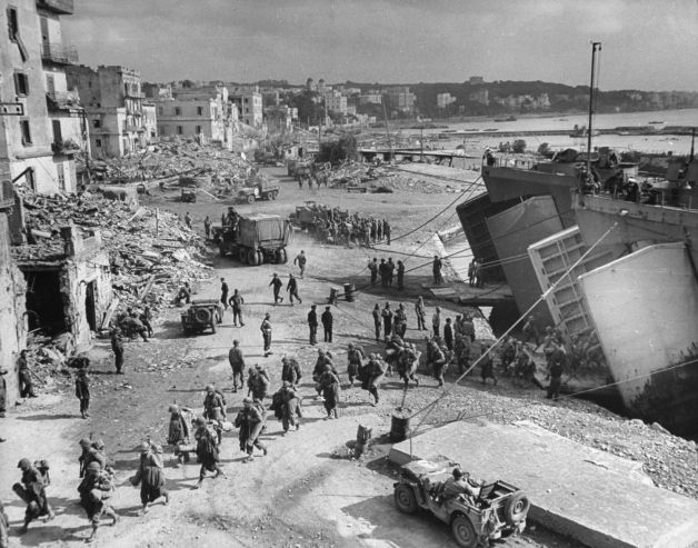 """The Allies at Anzio: Rare Photos From WWII's Italian Campaign   LIFE.com George Silk—Time & Life Pictures/Getty Images Caption from LIFE. """"LST's nuzzle up to shore in Anzio harbor to unload fresh American troops."""""""