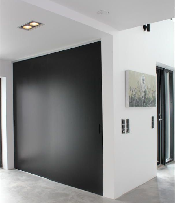 Black Sliding Doors