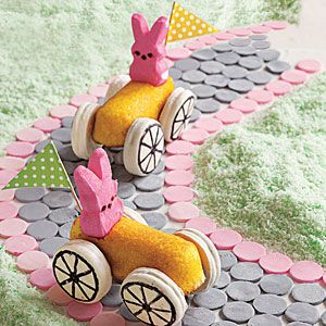 Bunny Cars | MyRecipes.com:  Velocipede,  Trike, Fun Food, Easter Bunnies, Easter Desserts, Bunnies Cars, Easter Treats, Cars Recipe, Easter Ideas