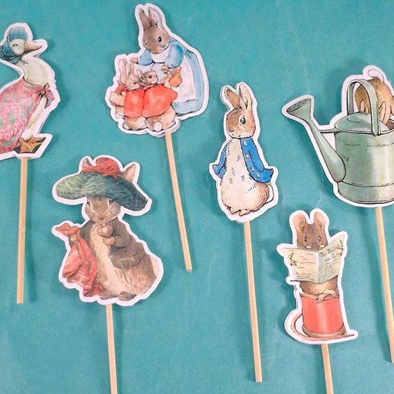 Peter Rabbit cupcake toppers, Peter Rabbit birthday, shower toppers ...