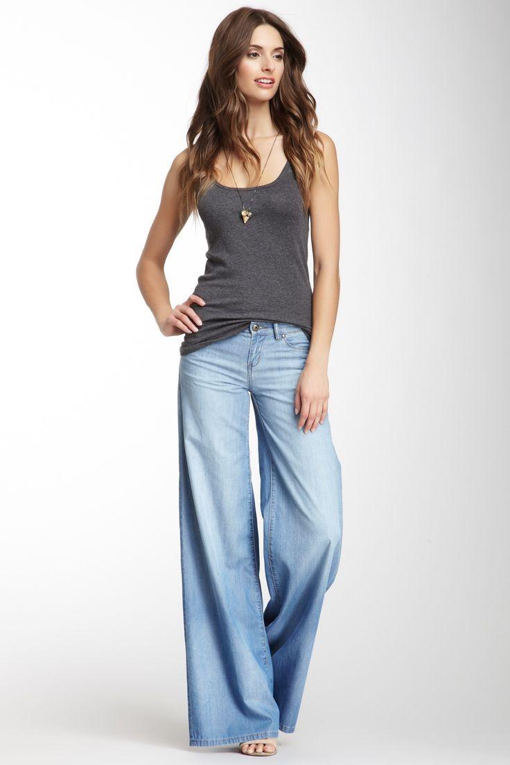 25  best ideas about Wide leg jeans on Pinterest | Women's wide ...