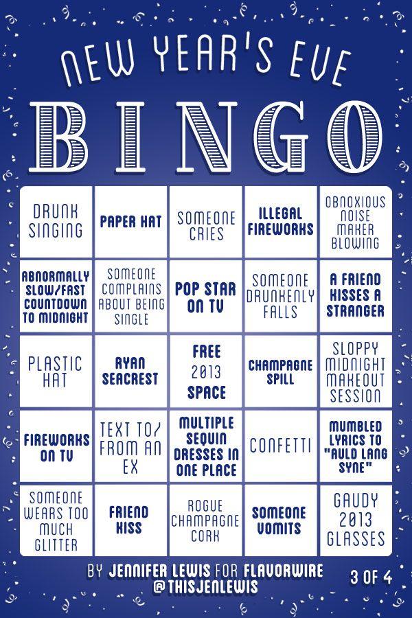 New Year's Eve Bingo < anyone get full house?