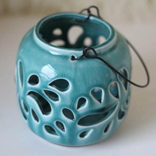 Candle Holder - Ceramic Lantern - Shop online now at www.lillyjack.com.au