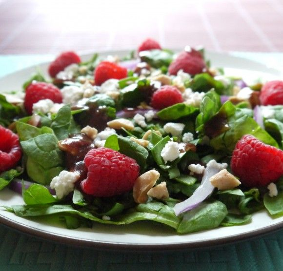 Raspberry and Spinach Salad Recipe
