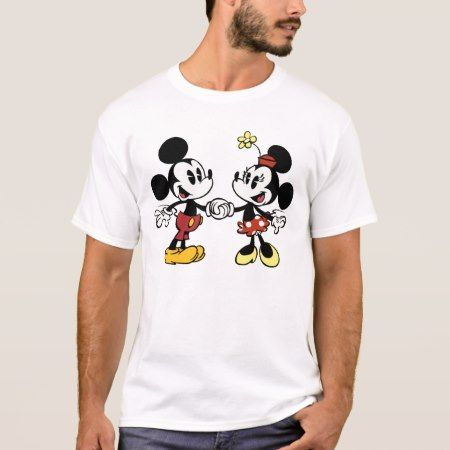 Mickey and Minnie Holding Hands T-Shirt - tap to personalize and get yours