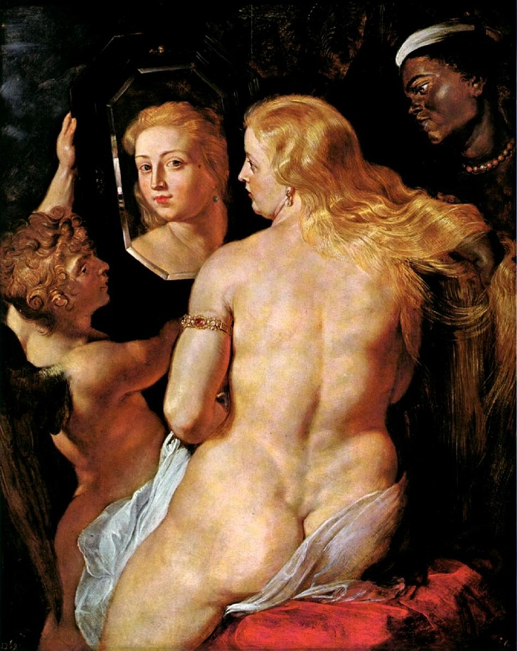 Vênus no espelho  Paul Peter Rubens  Óleo sobre tela. 124  x 98 cm.  1612 - 1615