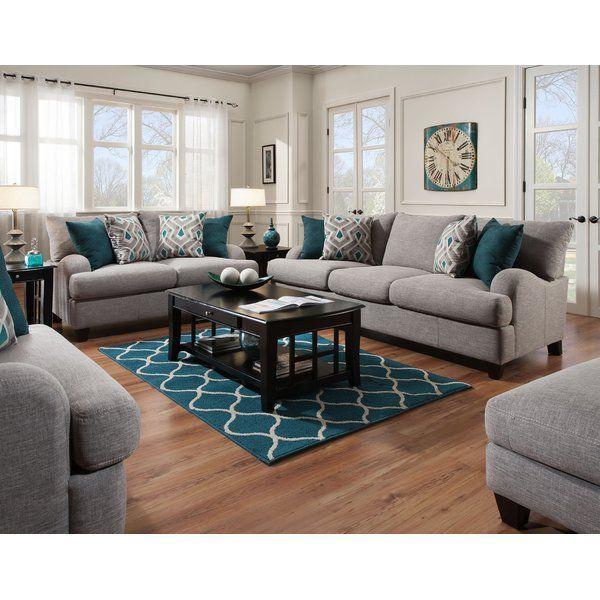 Rosalie Configurable Living Room Set Teal Living Rooms Living Room Collections Living Room Sets