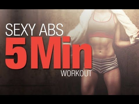 5 Minute Ab Workout (FIVE BEST MOVES!!) - YouTube