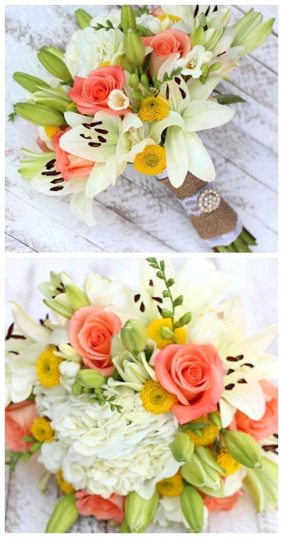 Handmade Wedding Bouquets with Costco Flowers | via fynesdesigns.com