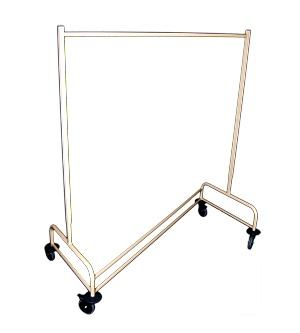 GARMENT RACK  - For transport and storage of hangable clothing  - Hang clothes straight from dryer   - Lightweight & Durable  - 6 height adjustments   - Polyurethane wheels  - 1405-1905(h) x 750(w) x 1335(l)