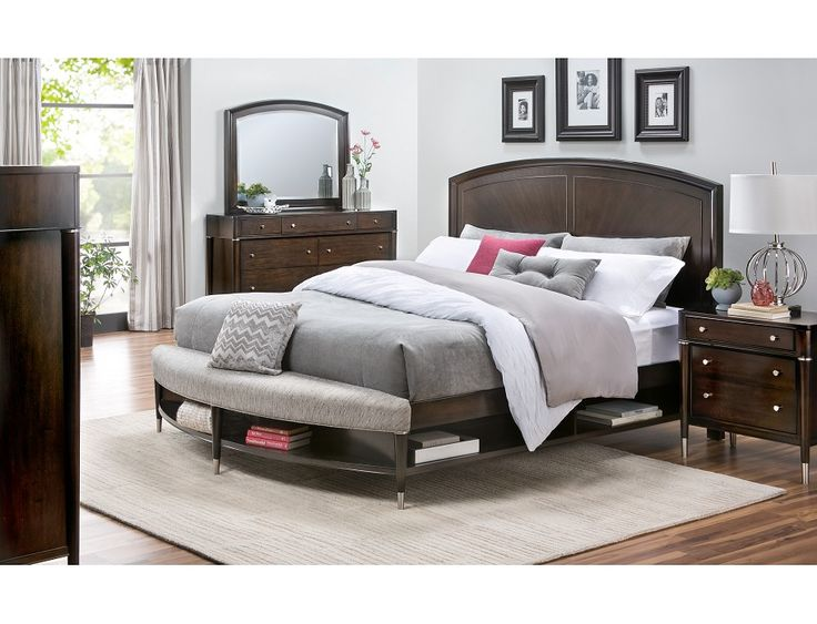 Slumberland Broyhill Vibe Collection 4pc Cherry Qn