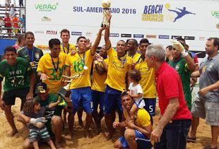 Blog Esportivo do Suíço:  Brasil goleia Paraguai na final e leva o Sul-Americano de futebol de areia