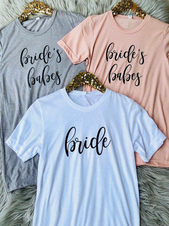 Bridesmaid Gift Bridesmaid Proposal Bachelorette Party Shirts Bride Tshirt Bridesmaid Tshirts Babe of Honor Shirts Bridal Party Shirts