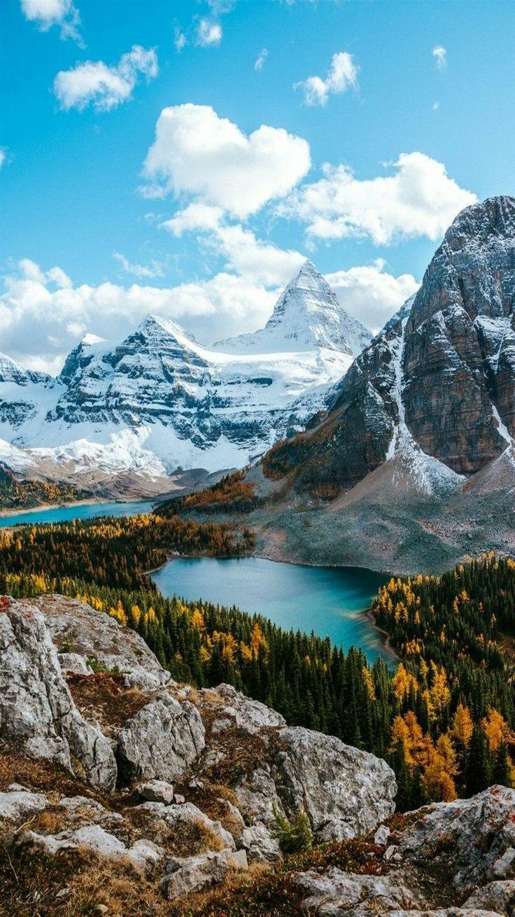 Mountain Landscape - Sunburst Lake and Mount Assiniboine, Rocky Mountains in British Columbia, Canada. - photographer Victo Raerden